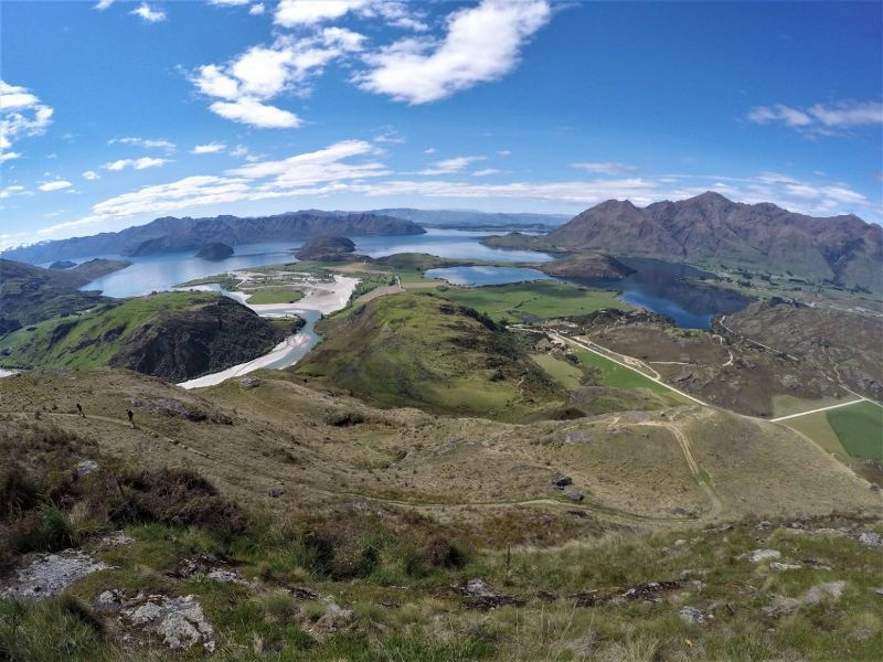 Views out to Lake Wanaka from Rocky Mountain Summit