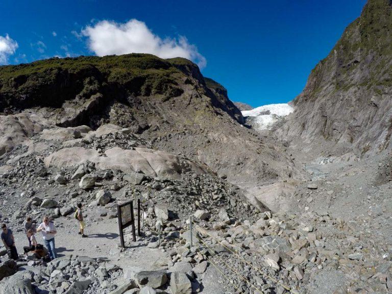 Franz Josef Glacier Lookout - best view of the Franz Josef glacier