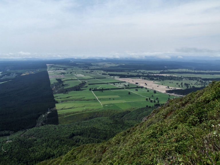 Looking down onto the Napier, Taupo Highway