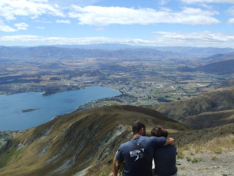 At the top of Roys Peak, the views of Lake Wanaka are amazing