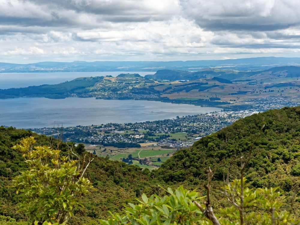 View from the top of Mt Tauhara in Taupo