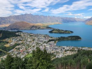 Queenstown Walks & Hiking Guide - Views of Queenstown at the top of the Tiki Trail - Copyright Freewalks NZ