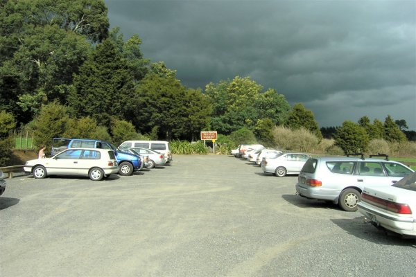 Wairere Falls car park is the start of the walk